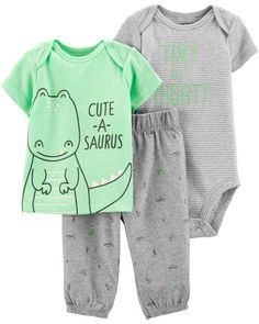 8c37bf7f5 Baby Boy 3-Piece Dinosaur Little Character Set from Carters.com. Shop  clothing