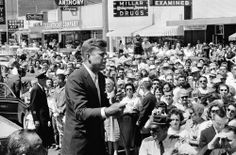 John F. Kennedy campaigning in Dallas, September 1960.