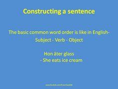Constructing a sentence Swedish