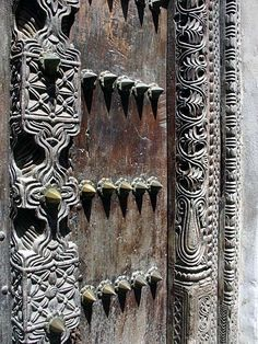 Detail from a door in Zanzibar, Africa.