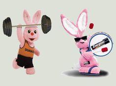 O coelho, além de ser símbolo de longevidade e velocidade, também é sinônimo de discórdia para as marcas Duracell e Energizer: as duas optaram pelo uso do mascote em cor-de-rosa para comunicar aos consumidores que suas pilhas eram de longa duração. Em tempo: o coelhinho cor-de-rosa da Duracell foi criado em 1973; o da Energizer, em 1989.
