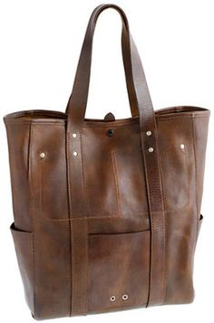 Wallace Barnes Leather Carrier Tote