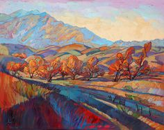 After Autumn original oil painting by California impressionist Erin Hanson