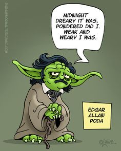 Edgar Allan Poda - you have to know Star Wars & Edgar Allen Poe to get this one. My kind of comedy Edgar Allen Poe, Edgar Poe, Edgar Allan, Starwars, Star Wars Film, Star Trek, Maryland, Just In Case, Just For You