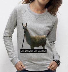 #Sweatshirt Serge le #lama - Exclu #Madametshirt  -  Dispo ici : http://www.madametshirt.com/fr/sweat-shirts/1518-sweat-serge-le-lama.html #sweat #pull