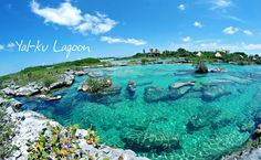 yal-ku lagoon. I dont know where this is but damn I need to go there...