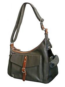 Canvas & leather pet carrier / dog bag...