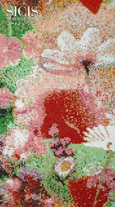 #SICIS #Mosaic #Art #Ipix #Pink