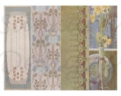 Art Nouveau digital collage sheet, 4 bookmarks, ANB2 -    Edit Listing  - Etsy