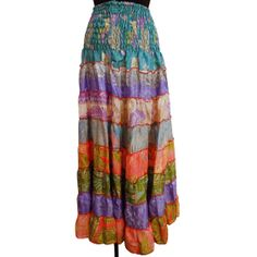 Hey, I found this really awesome Etsy listing at https://www.etsy.com/listing/173325637/vintage-skirt-sari-fabric-silk-blend