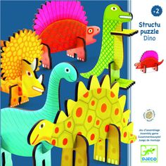 This is a fun packed Dinosaur themed puzzle for children aged Slot together the brightly coloured pieces and get ready for some creative play! The sturdy box contains 17 large pieces which combine to make 5 dinosaurs. Puzzles 3d, Puzzles For Kids, Craft Activities For Kids, Arts And Crafts, Paper Crafts, Diy Crafts, Diy For Kids, Gifts For Kids, Lego