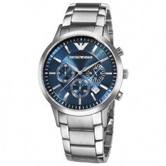 b7adef7fb Emporio Armani Men s AR2448 Classic Chronograph Stainless Steel Blue Dial  Watch  MensWatches Giorgio