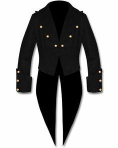 Banned Cotton Tailcoat Steampunk Goth Victorian Swallowtail Jacket.  goth   gothfashion  gothicjacket   a30865a830a