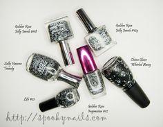 Lakierowi ulubieńcy 2013 / My favourite nail polishes 2013 - black/white topcoats