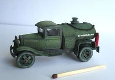 BZ-42 Fueling Truck Paper Model Free Template Download