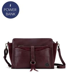 The new Sonora Small Crossbody bag in Cabernet is a must-have for fall and beyond. It's also tech-friendly with a removable pouch containing a built in power bank so you can charge your phone on the go. The perfect bag for when you are out and about!
