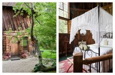 This former sculpting studio may be small, but it offers big amenities: An ethereal bedroom, a sitting room, and a wet bar. Peek out of the upstairs windows to see the nearby pond and windows, and fall asleep each night to the sounds of the babbling brook nearby. Outside, garden paths wind through the two surrounding acres, lead to lily ponds and stone bridges. From $225. See more at Airbnb »