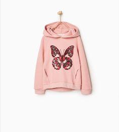 Зображення 1 з Худі з метеликом від Zara