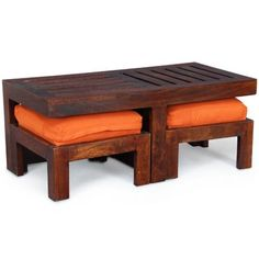 Elmwood Parquet Coffee Table With Stools,Coffee Tables
