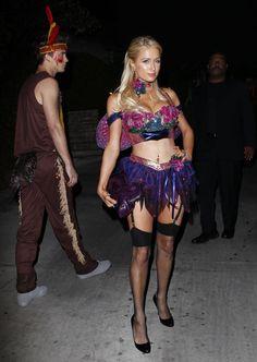 Paris Hilton – Playboy Mansion Halloween Party in Los Angeles, October 27, 2012