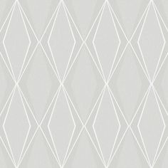 Facet Wallpaper in Grey design by Stacy Garcia for York Wallcoverings