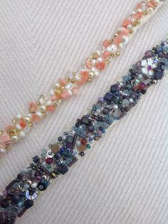 Using up mixed beads onto crochet for bracelets