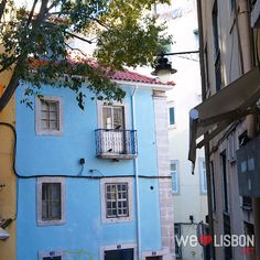 Beautiful colorful façades in Lisbon's traditional neighborhoods