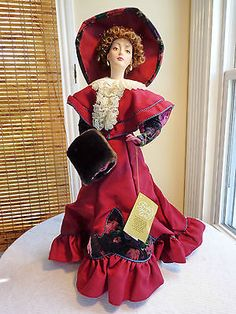 "Franklin Mint - 22"" CLARISSA Porcelain Gibson Girl ' IN VOGUE ' Doll - Pristine"