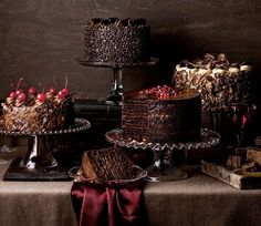 Sem receita.Bolos de casamento para os amantes de chocolate.
