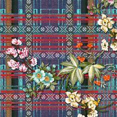 Pattern; xadrez + floral + étnico