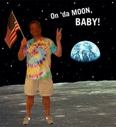 """#ThrowbackThursday: When Lee Gordon took a """"trip to the moon.""""    Think you can top this creative photo? Enter our 2016 Traveling T-Shirt Contest: http://www.palmbeachunitedway.org/2016-traveling-t-shirts-0"""
