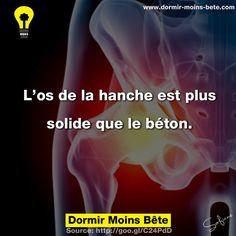 L'os de la hanche est plus solide que le béton.