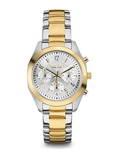 Caravelle New York Womens 45L136 Analog Display Japanese Quartz Two Tone Watch -- You can find out more details at the link of the image.