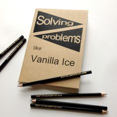 'Vanilla Ice' journal - Emma Makes Problem Solving, How To Plan, How To Make, Vanilla, Stationery, Notebook, Notes, Ice, Journal