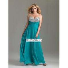 Sweetheart Covered with crystals ruched waistline chiffon plus size prom dress PD34561 at belloprom.com