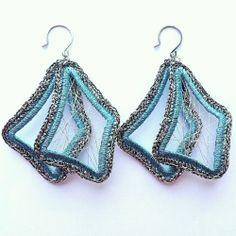 Fashion Womens Jewelry Handmade Earrings with Metallic Yarn Plated Earring Hook
