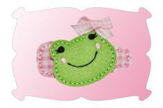 Sweet Frog Snap Clip Mini ~ This little frog is sweet as can be! Ribbet, Ribbet!