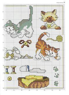 Cartoon type cat cross stitch 1 of 2