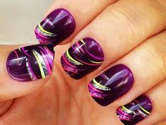 This purple color works well with the green, pink and silver.