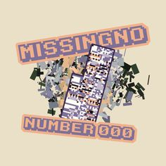 9b05a1e2 Shop Missingno -Number missingno t-shirts designed by as well as other  missingno merchandise at TeePublic.