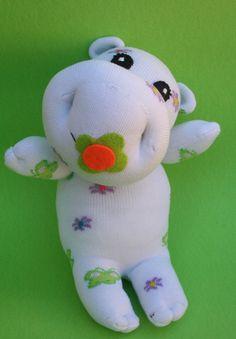 Wanda the hungry Hippo sock doll by SimonaMereuCreArt on Etsy, $35.00