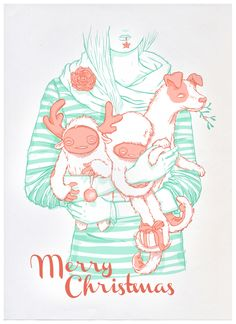 Xmas with Family by luiza kwiatkowska, via Behance