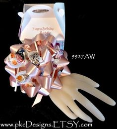 Candy Birthday WRIST CorsageMade to Order  Special by pkcdesigns, $14.99