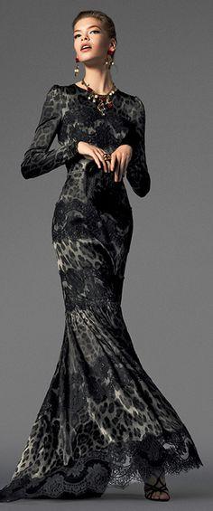 Dolce & Gabbana ~ classy animal print gown