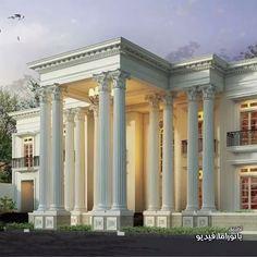 Showcase Model Luxury Homes - Rumah Klasik Classic Architecture, Architecture Design, Classic House Design, Modern Mansion, Facade House, House Front, Exterior Design, House Styles, Kids Diy