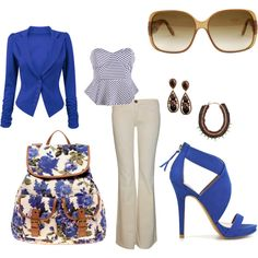 blue, created by willowbrook5.polyvore.com