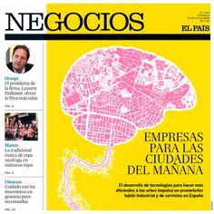 """EL PAÍS - Negocios. """"Empresas para las ciudades del mañana"""". Artículo: Thiago Ferrer Morini. Ilustración: Luis Tinoco www.luistinoco.com"""