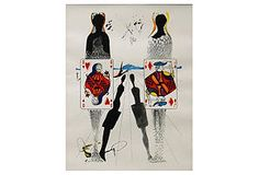 One Kings Lane - Printed by Mourlot Paris - Dalí, Croquet Ground