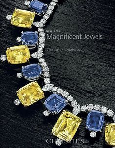 CHRISTIE'S MAGNIFICENT JEWELS – NEW YORK – OCTOBER 15TH, 2013 Lot 390 – A Sapphire, Yellow Sapphire and Diamond Necklace, by Cartier
