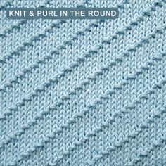 Zig Zag Seed stitch worked in the round Knit- Purl combinations Pinterest...